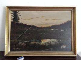 Ölgemälde Alfons Mühl  Moorlandschaft