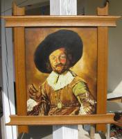 Foto 2 Ölgemälde auf Leinen 40x50 cm -Keilrahmen- 46 Jahre alt -Der fröhliche Trinker-