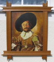 Foto 4 Ölgemälde auf Leinen 40x50 cm -Keilrahmen- 46 Jahre alt -Der fröhliche Trinker-