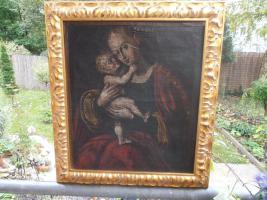 Ölgemälde ''Madonna mit Kind''