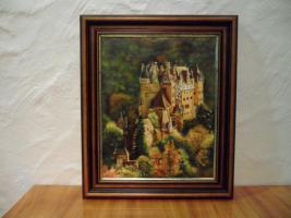 Ölgemälde von S. Hein Motiv Burg Eltz