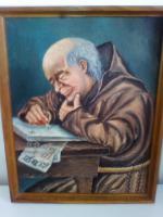 Ölgemälde '' Pater am Schreibpult''