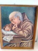 Foto 2 Ölgemälde '' Pater am Schreibpult''