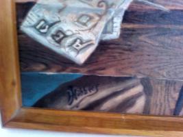 Foto 3 Ölgemälde '' Pater am Schreibpult''