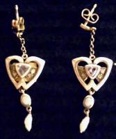 Ohranstecker Silber mit Perlen und Edelsteinen