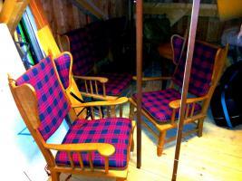 Foto 4 Ohrensessel 2x + 3 Sitzer