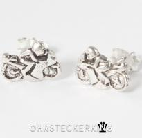 Ohrstecker Motorrad Silber (925-Silber) Neu von ohrsteckerking