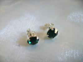 Ohrstecker , Swarovski Elemente, Emerald