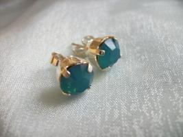 Ohrstecker, Swarovski Elemente, carrib. blue Opal