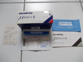 Foto 4 Olympus � [mju:] -1, Autofokus Kleinbildkamera mit 35 mm Objektiv, Tasche