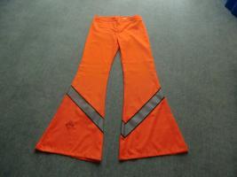 Orange Schlaghose, Raverhose, Unisex