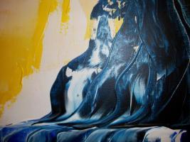 Foto 3 Original Armin Bosch abstrakte Kunst Mischtechnik Acryl/Öl auf Leinwand 100/70cm