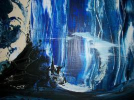 Foto 4 Original Armin Bosch abstrakte Kunst Mischtechnik Acryl/Öl auf Leinwand 100/70cm