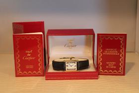 Original Cartier TANK Vermeil 18 Karat silbervergoldet SCHNÄPPCHEN! Inkl. Box und Papieren!