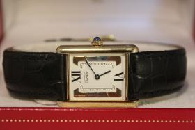 Foto 2 Original Cartier TANK Vermeil 18 Karat silbervergoldet SCHNÄPPCHEN! Inkl. Box und Papieren!