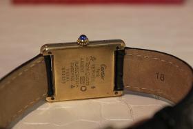 Foto 3 Original Cartier TANK Vermeil 18 Karat silbervergoldet SCHNÄPPCHEN! Inkl. Box und Papieren!