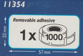 Foto 2 Original DYMO 11354 Vielzweck-Etiketten breit 32x57 mm * 1 Rolle mit 1000 Stck.