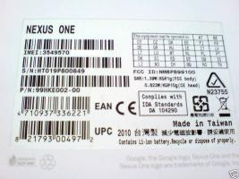 Foto 5 Original GOOGLE NEXUS ONE - NEU