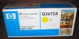 Original HP Toner Q2672A f. HP LaserJet 3500 Neu!