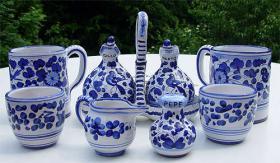 Original Keramik aus Italien - Ischia - Casamicciola - Sant Angelo Menage Krug Kännchen