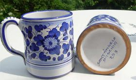 Foto 4 Original Keramik aus Italien - Ischia - Casamicciola - Sant Angelo Menage Krug Kännchen