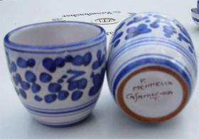 Foto 5 Original Keramik aus Italien - Ischia - Casamicciola - Sant Angelo Menage Krug Kännchen