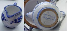 Foto 6 Original Keramik aus Italien - Ischia - Casamicciola - Sant Angelo Menage Krug Kännchen
