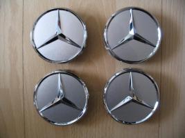 Foto 2 Original Mercedes-Benz Nabendeckel mit Chromstern  - neu - 1 Satz = 4 Stück