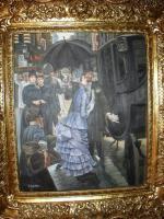 Original Ölgemäde aus Paris von Jean Marsche, Le' Kavalier: