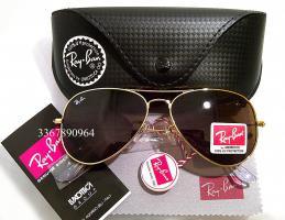 Original Ray-Ban Aviator Sonnenbrille Gold/ Braun Gr.58 (M) NEU RayBan Ray Ban Pilotenbrille