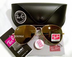 Original Ray-Ban Aviator Sonnenbrille Gold/ Gold Gr.58 (M) NEU RayBan Pilotenbrille