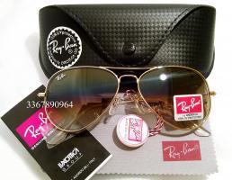 Original Ray-Ban Aviator Sonnenbrille Gold/ Halbbraun Gr.58 (M) NEU Pilotenbrille RayBan Ray Ban