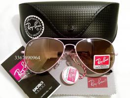 Original Ray-Ban Aviator Sonnenbrille Rosa/ Braun Gr.58 (M) NEU RayBan Ray Ban Pilotenbrille