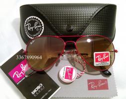 Original Ray-Ban Aviator Sonnenbrille Rot/ Braun Gr.58 (M) NEU RayBan Ray Ban Pilotenbrille