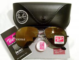 Original Ray-Ban Aviator Sonnenbrille Schwarz/ Gold Gr.58 (M) NEU RayBan Pilotenbrille