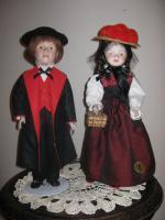 Original Schwarzwald-Puppenpärchen aus Gutach