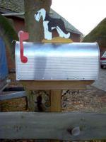 Original US Mailbox mit Aufbauten