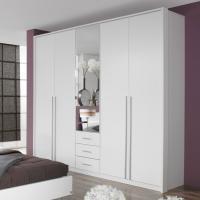 Original verpacktes/neues Schlafzimmer alpinweiss, Schrank und Bett mit 2 Nachttischen