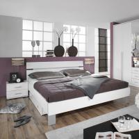 Foto 2 Original verpacktes/neues Schlafzimmer alpinweiss, Schrank und Bett mit 2 Nachttischen