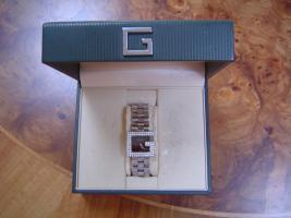 Originale Damen Gucci Uhr aus Edelstahl / Diamanten