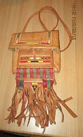Originell, exotisch: Tasche im indianischen / mexikanischen Stil aus Leder