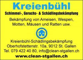 Kreienbuehl-Schädlingsbekämpfung, SG. Tel. 079 - 422 40 80