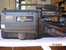 Foto 2 PANASONIC SVHS-Camcorder / Kamera NV-MS-1 für normale VHS / S-VHS Schulterkamera
