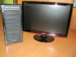 PC Komplettsystem - Core 2 Quad + SAMSUNG 24'' T240