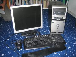 PC Tango AMD Athlon + Logitech-Maus + Tastatur + Samsung Monitor SyncMaster 172V + Brenner