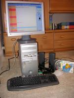 PC komplett System mit Monitor und Zubehör