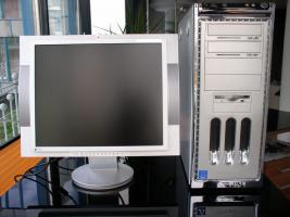 PC + LCD Monitor (Eizo)  in SEHR GUTEM Zustand