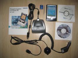 PDA MDPPC 100 Pocket PC mit Navigationsfunktion und Zubehör