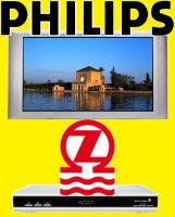 PHILIPS PLASMA 42 Zoll FERNSEHER TV FERNBEDIENUNG DEFEKT + ZEHNDER SAT RECEIVER