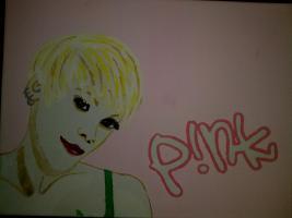 P!NK-Portrait auf Leinwand!!!